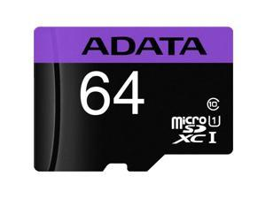ADATA Premier 64GB microSDXC Flash Card with Adapter, A1, V10 Model AUSDX64GUICL10A1-RA1