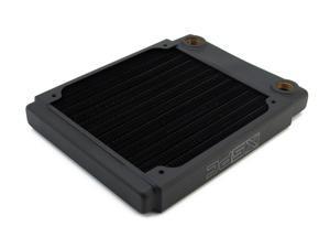 XSPC TX120 Ultra Thin Radiator, 120mm x 1, Single Fan, Black
