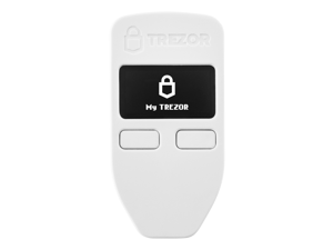 Trezor One White - The Original Hardware Wallet for Bitcoin, Ethereum, Stellar, Litecoin, Dash, NEM, Zcash And Other Cryptocurrencies And Tokens (600+)