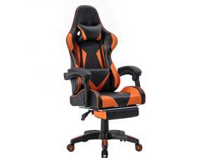 ViscoLogic Strada X Gaming Racing Sports Styled Home Office Chair (Black  Orange)