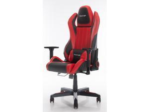 ViscoLogic Cayenne M6 Ergonomic High-Back, 2D Armrest, Reclining Sports Styled Home Office Swivel PC Racing Gaming Chair (Black & Red)