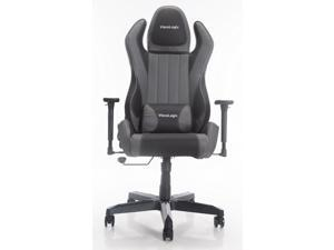 ViscoLogic Cayenne M6 Ergonomic High-Back, 2D Armrest, Reclining Sports Styled Home Office Swivel PC Racing Gaming Chair (Black & Grey)