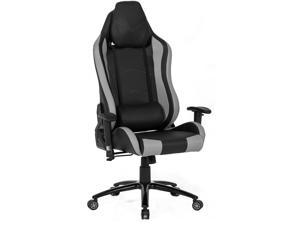 ViscoLogic TIGUAR High Back Sports Style Extra Padded Headrest Ergonomic Swivel Home Office Computer Gaming Chair (Black & Grey)