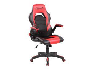 ViscoLogic GT-2000 X Ergonomic Flip-Up Arms Reclining Swivel Home Office Computer Gaming Chair (Black & Red)