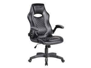 ViscoLogic BLACKSWING Ergonomic Gaming Reclining Swivel Home Office Computer Desk Gaming Chair (Black & Grey)