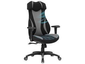 ViscoLogic ARMOUR | Premium Grade Series | Mesh Fabric Gaming Chair (Black & Grey)