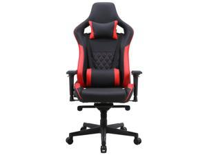 ViscoLogic Professional Grade Shroud X Ergonomic High-Back Swivel Reclining Adjustable Video Game Computer Gaming Chair (Black & Red)