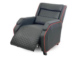 ViscoLogic RYZEN Gaming Manual Recliner Extra Padded Sofa Accent Chair (Black)