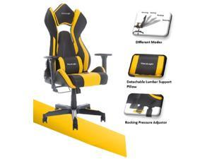 ViscoLogic Cayenne M3 Ergonomic High-Back, 2D Armrest, Reclining Sports Styled Home Office PC Racing Gaming Chair (Black & Yellow))