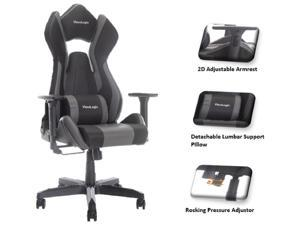 ViscoLogic Cayenne M3 Ergonomic High-Back, 2D Armrest, Reclining Sports Styled Home Office PC Racing Gaming Chair (Black & Grey)