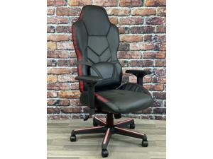 ViscoLogic CONCEPT - X8 Ergonomic Sports Style Reclining Swivel Home Office Computer LED Gaming Chair (Black)