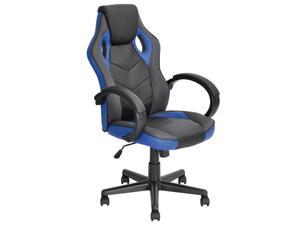 ViscoLogic DRIFT Gaming Racing Sports Styled Home Office Chair (Black & Blue)