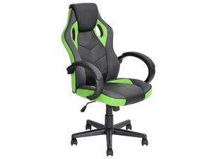 ViscoLogic DRIFT Gaming Racing Sports Styled Home Office Chair (Black & Green)