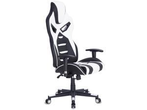 ViscoLogic FORCE Gaming Chair Racing Entertainment Video Game Chair Ergonomic Backrest and Seat Height Adjustment Computer Chair with Pillows Recliner Swivel Rocker Headrest and Lumbar Tilt E-Sports C