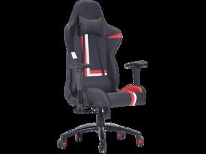 ViscoLogic Sportstar Series Ergonomic High Backrest Swivel Rocking Reclining Racing Home Office Computer Gaming Chair (Black-Red-White)