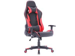 ViscoLogic MAZON Superior Gaming Chair Racing Entertainment Video Game Chair Ergonomic Backrest and Seat Height Adjustment Computer Chair with Pillows Recliner Swivel Rocker Headrest and Lumbar Tilt C