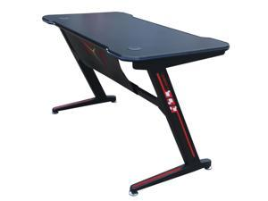JR100-ZViscoLogic Gaming Desk Computer Table Z- Shape Sports Racing Table with LED Lights