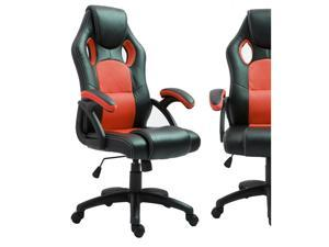 ViscoLogic MAZE Gaming Racing Style Swivel Home Office Computer Desk Chair (Black & Red)