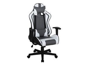 ViscoLogic Formula Racing Gaming Height Adjustable Swivel Home Office Computer Desk Chair (Black White Grey)