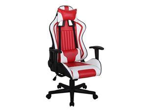 ViscoLogic Formula Racing Gaming Height Adjustable Swivel Home Office Computer Desk Chair (Black White Red)