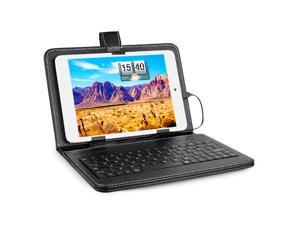 """7.9"""" Inch Micro USB Keyboard Keypad Leather Stand Case Cover For Tablet"""
