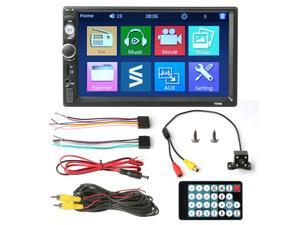 "Wireless Car Stereo Radio 2 DIN 7"" HD MP5 FM Player Touch Screen + Rear Camera"