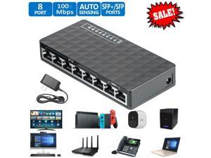 New 10/100 Mbps 8 Port Fast Ethernet LAN Desktop RJ45 Network Switch Hub Adapter