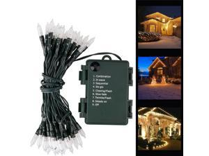 Outdoor String Lights Christmas Lights Battery Operated String Lights 50 Led