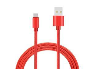 Round USB Data Cable Can Be Charged and Data Transmission Synchronous Fast Charging Cable-Red Background Art/_2 Charging Cable