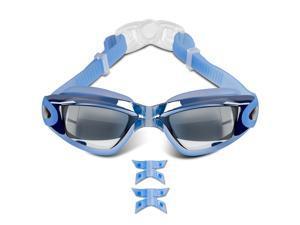 Swimming Goggles Anti-Fog UV Protection Swim Electric Plating Glasses Men Women