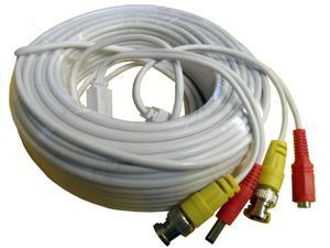All-in-one 100 Feet(30m) 2.1mm Power & Video BNC Cable for CCTV Security Cameras