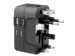 Travel Plug Adapter European Outlet International Universal Power USB EU US UK