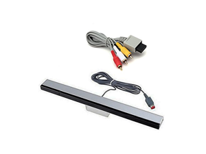 Jadebones Wii Wired Motion Sensor Bar and AV cable for Nintendo Wii and Wii U