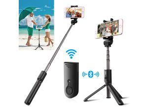 Extendable Selfie Stick Tripod for Cell Phone iPhone + Bluetooth Remote Shutter