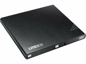 NEW--Lite-On eBAU108 BLACK Ultra Slender 8x DVD+/-RW DL EXTERNAL Burner w/NERO