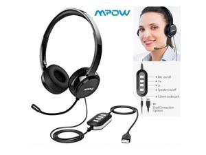 Mpow 071 USB Headset/3.5mm Wired Computer Headset w/ Microphone Noise Cancelling