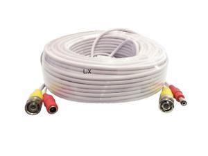 50ft 4K 8MP Premade All-in-One BNC Video & Power Cable for CCTV Security Camera