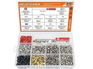 HELIFOUNER 810 Pieces Computer Standoffs Screws Assortment Kit with a