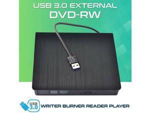 New Slim Portable External USB 3.0 DVD CD RW Burner Reader Writer Drive Player