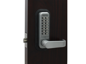 LockeyUSA Digital Door Lock 2835 Lever Handle, Marine Grade