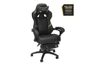 RESPAWN 110 Pro Racing Style Gaming Chair, Reclining Ergonomic Chair with Built-in Footrest, in Forest Camo (RSP-110V2-FST)