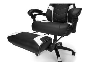 RESPAWN 110 Pro Racing Style Gaming Chair, Reclining Ergonomic Chair with Built-in Footrest, in White (RSP-110V2-WHT)