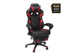 RESPAWN 110 Pro Racing Style Gaming Chair, Reclining Ergonomic Chair with Built-in Footrest, in Red (RSP-110V2-RED)