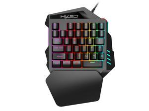 Gaming Keypad One-handed Membrane Keyboard with LED Backlight 35 Keys Backlit Portable Mini Gaming Keypad Game Controller for PC PS4 Xbox Gamer