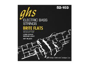 GHS ML3075 Brite Flats Flatwound Electric Bass Strings