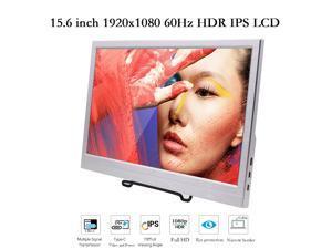 """15.6"""" USB-C Portable Display 15.6 inch IPS HDR 1920×1080 60Hz FHD Portable Monitor with Mini HDMI / Headphone / Dual Type-C Ports, Two All-featured USB C ports, USB-C Power Supply, Premium LCD Screen."""