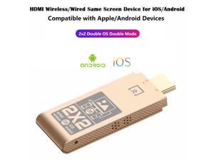 WiFi HDMI Dongle for Apple Android Mobile Phone, 2.4GHz Wireless Same Screen Device for Android or iOS with HDMI.