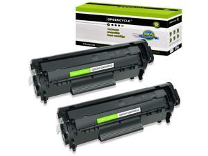GREENCYCLE 2 Pack Replacement Laser Black Toner Cartridge for HP 12A Q2612A M1319 1010 1012 1018 1020 3015 3055