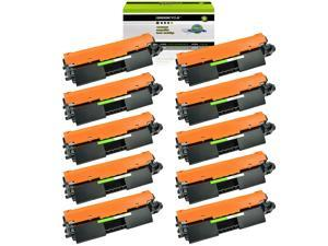 GREENCYCLE 10 Pack Compatible 30A CF230A Black Toner Cartridge Replacement for HP Laserjet Pro M203d M203dn M203dw MFP M227d MFP M227fdn MFP M227fdw MFP M227sdn Laser Printers with IC Chip