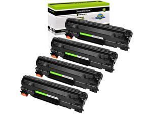 GREENCYCLE 4 Pack Compatible 83X CF283X 83A CF283A Toner Cartridge Replacement for HP Laserjet Pro MFP M201dw M201n M225dn M225dw M125a Series Printer (Black)